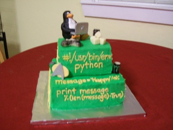 Overall view of the geekiest cake ever.