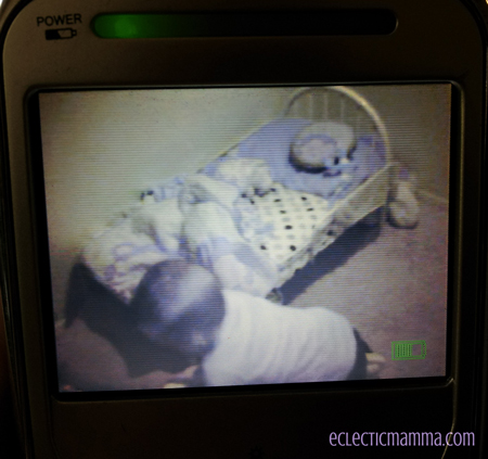 Sneaky boy in the baby monitor